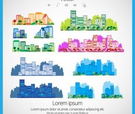 Modern Urban Landscapes set vectors 05