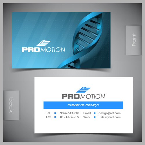 Modern business cards front and back template vector 02 - Vector ...