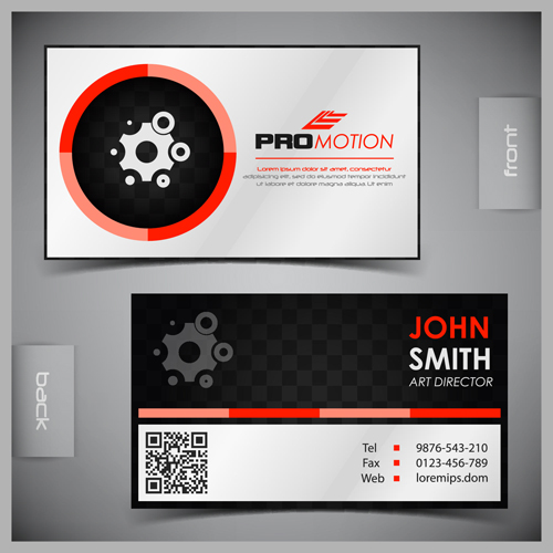 Modern business cards front and back template vector 04 free download modern business cards front and back template vector 04 wajeb