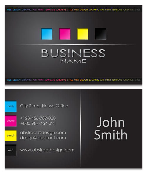 Modern business cards front and back template vector 05 vector modern business cards front and back template vector 05 reheart Gallery