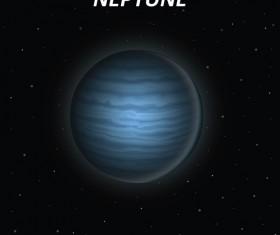 Neptune art background vector