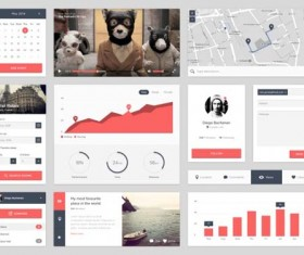 PSD Mobile UI design material vintage styles