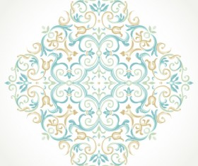 Pastel floral ornaments art background vector