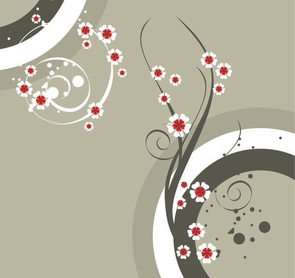 Popular flower pattern background vector
