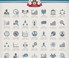 Premium business icons vector material
