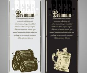 Pub beer menu vintage styles vector 02