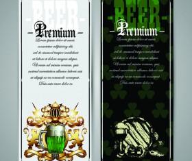 Pub beer menu vintage styles vector 05