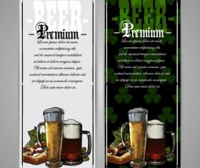 Pub beer menu vintage styles vector 06