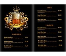 Pub beer menu vintage styles vector 08