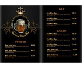Pub beer menu vintage styles vector 10