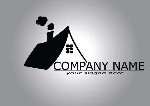 Real estate company logos vectors 01 - Vector Logo free download