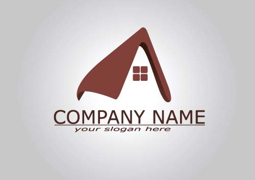 Real estate company logos vectors 02 - Vector Logo free download