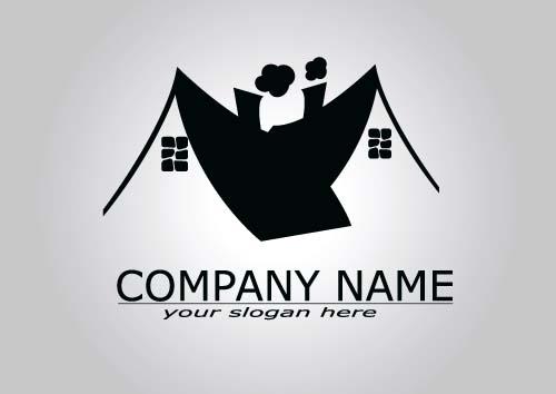 Real estate company logos vectors 04 - Vector Logo free download