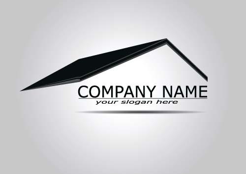 Real estate company logos vectors 06 - Vector Logo free download