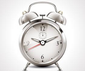 Realistic alarm clock design vector 01