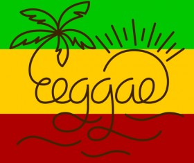 Reggae style text design vector 01