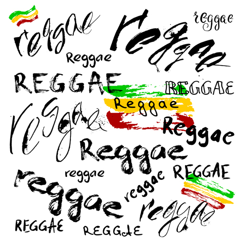 Reggae style text design vector 02 free download
