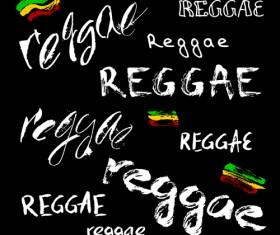 Reggae style text design vector 03