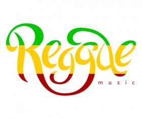 Reggae style text design vector 04
