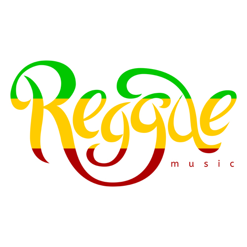 Reggae style text design vector 04 - Vector Other free download