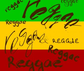 Reggae style text design vector 05