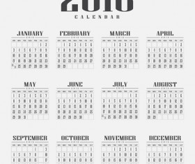 Retro 2016 calendars design vector material 03