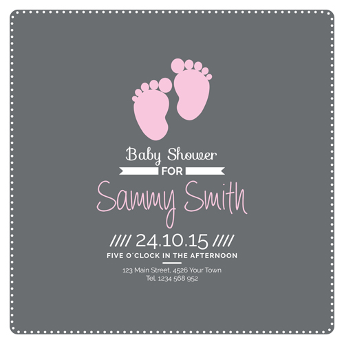 Retro Baby Shower Cards 06 Vector