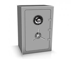 Safe deposit creative vector set 01