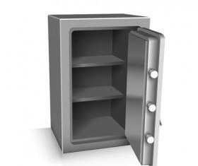 Safe deposit creative vector set 03