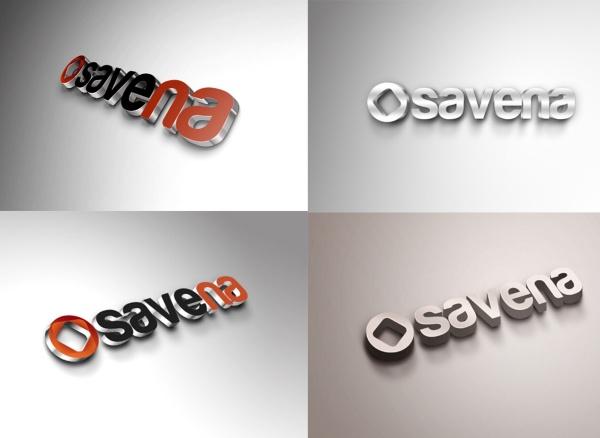 Savena 3D psd logo