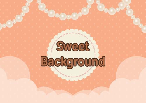 Sweet background with Jewelry vectors 03