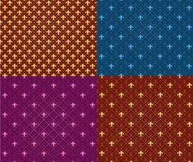 Tiled patterns art vector set