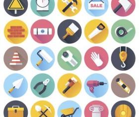 Tool flat icons set 02