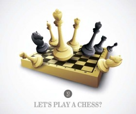 Vector chess competition backgrounds material