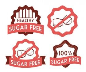 Vector sugar labels design material 05