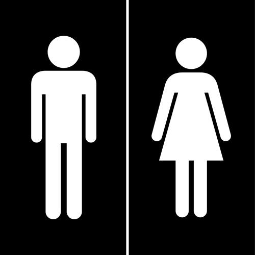 Bathroom Sign Vector Free Download vector toilet sign man and woman design 01 - vector logo free download
