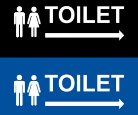 Vector toilet sign man and woman design 02