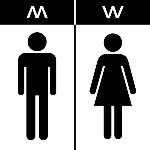 Vector toilet sign man and woman design 03