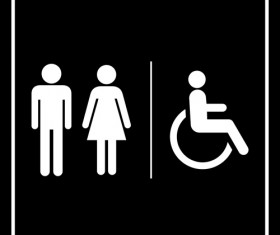 Vector toilet sign man and woman design 04