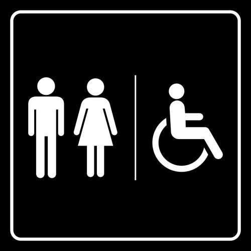 Bathroom Sign Vector Free Download vector toilet sign man and woman design 04 - vector logo free download