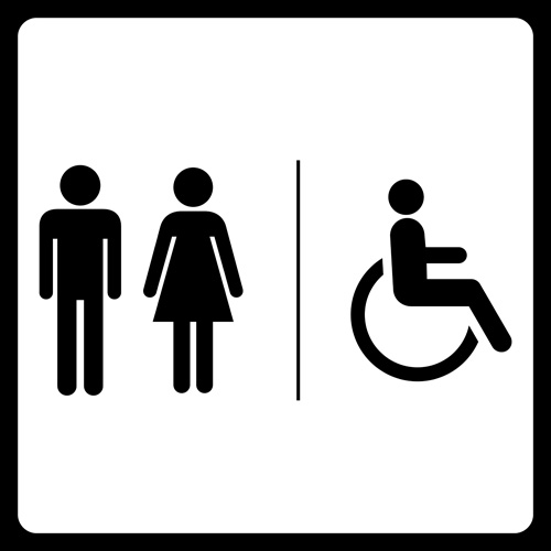 Vector toilet sign man and woman design 05