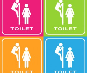 Vector toilet sign man and woman design 07