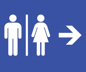 Vector toilet sign man and woman design 08