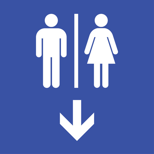 Vector toilet sign man and woman design 09