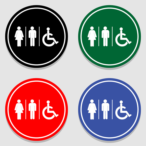 Vector toilet sign man and woman design 10