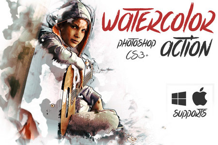 Watercolor Photoshop Action - Photoshop Action free download