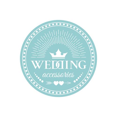 Wedding badge retro design vector 03