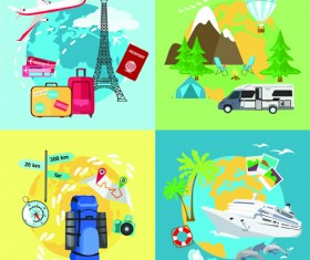 World travel design elements vector illustration 04