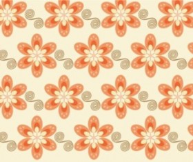 bright colors flower pattern seamless vector