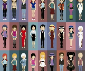 fashion character design vector material